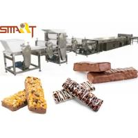 China Chocolate Coating Cereal Bar Cutting Machine Almomds / Peanut / Sesame Candy Bar Production on sale