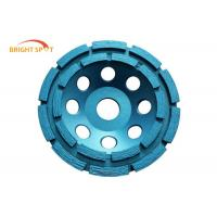 China Double Row Diamond Cup Grinding Wheel For Concrete , 100mm Angle Grinder Concrete Wheel wholesale