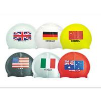 China flag swim cap wholesale