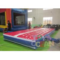China Durable Colored Tumble Gymnastics Air Mat Safe For Extrior CE / UL 6X3X0.5M wholesale