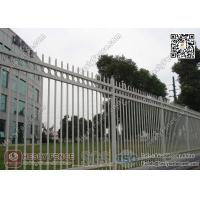 China 1.8X2.5m Garrison Steel Picket Fence Panel   Steel Picket Fence Factory wholesale