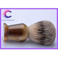 China 100% pure best shaving cream brush faux horn handle for men wholesale