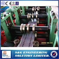China 380V / 50Hz Warehouse Storage Rack Roll Forming Machine Colored Steel Tile Type wholesale
