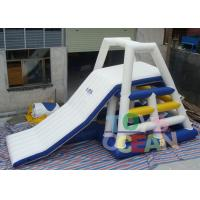 China 0.9 PVC Sea Beach Inflatable Water Toys , Floating Water Tower Slide Combo With Tower Climbing Aqua Game wholesale