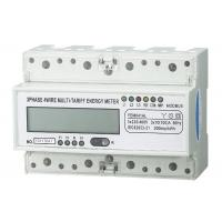 China Light Weight Three Phase Energy Meter Accuracy 1.0  PC 35mm Din Rail For Home wholesale