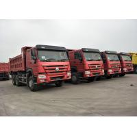 China RED Color 371HP 10 Wheeler Dump Truck SINOTRUK HOWO With 12.00R20 Tire on sale