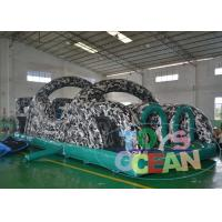 China Green Bouncy Portable Inflatable Obstacle Course Indoor Rental 0.55MM PVC wholesale