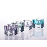 China Square Tealight Candle Holder Glass Replacement For Decoration wholesale