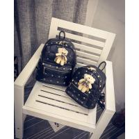 Wholesale 2016 New Design Fashion young girl use PU leather Bagpack with rivet bag from china suppliers