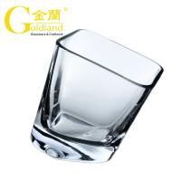 China Hand-Blown Shake Rocking 200ml Whiskey Glass Cup for Bar thick base whiskey glasses on sale