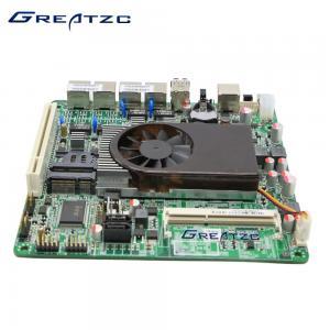 China Dual Core Quad LAN Motherboard , Fan Version Intel Atom D525 Motherboard wholesale