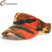 China Deluxe Camouflage Sports Sun Visors Hats with Printed Chino Cotton wholesale