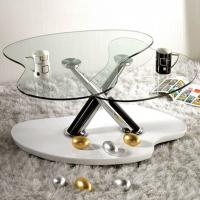 China 10MM Clear Shaped  Custom Tempered Glass For Occasional Furniture wholesale