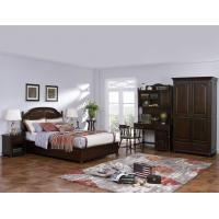 China American Leisure Antique Design Single bedroom furniture Small bed with writing Desk and Bookcase and 2 door wardrobe wholesale
