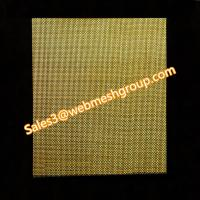 China 0.15mm Wire Dia. 40 Mesh Brass Wire Mesh 1.0m Wide wholesale