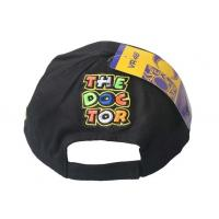 Quality 100% Cotton Custom Embroidered Baseball Hats Black With White Sandwich Peak for sale