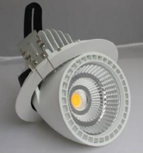 China Rotatable LED Gimbal Light 50W , CREE COB LED Downlight High Brightness wholesale