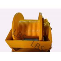 China Hydraulic Brake Hoist Winch 140KN With Lebus Grooving For Offshore Ship / Construction Lifting wholesale
