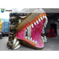China Vivid Dinosaur 5D Movie Theater With Red Luxury Chairs , Genuine Leather Fiberglass wholesale