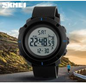 China Skmei Men Pedometer 3D Waterproof 50m Chrono PU Band Multifunction Sport Wrist Watches 1215 wholesale