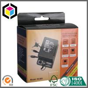 China Glossy Laminated Corrugated Cardboard Electronics Packaging Box Self Hanging Tab on sale