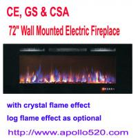 Buy cheap Professional 72-Inch Electric Wall Fireplace with LVD touch panel from wholesalers