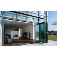 Buy cheap Weatherproofing Sliding Folding Glass Door For Patio 4 panels design from wholesalers