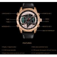 Quality Wholesale retail oem Boamigo New Degign Dual Display 30m Waterproof Men Wrist Watches F535 for sale