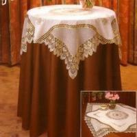 China Vinyl Tablecloth in Golden and Silver Lace wholesale
