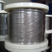 China Stainless Steel Wire Rope with 1 x 7, 1 to 3mm Control Cable, Available in in Grade AISI304 on sale