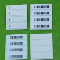 China QIDA high detection rate round customized cloth Soft label with barcode printing wholesale