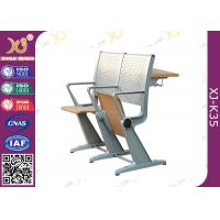 China Student Intelligent Desk And Chairs Plywood / Steel Back For College Furniture wholesale