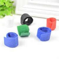 China Blue / Black / Green Cord Management Straps Adhesive Cable Clamps For Wire wholesale