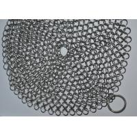 China 7X7 Inch 316 SS Ringer Cast Iron Cleaner / Wire Mesh Scrubber Round Shape wholesale