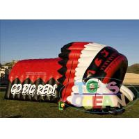 China Red Inflatable Sport Tunnel With Helmet Tent For Event Sport Customize Design wholesale