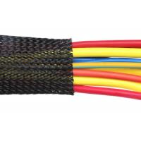 China Melt Temperature Flexible Braided Wire Covers Custom Diameter Abrasive Resistance on sale