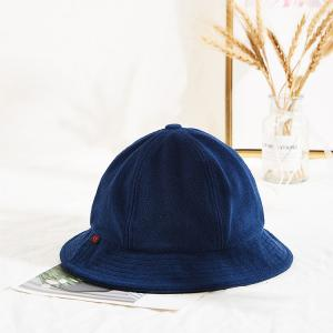 China wholesale navy blue custom logo warm winter thick bucket hats wholesale
