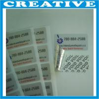 China silver void label wholesale