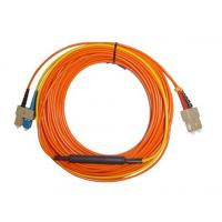 China SC APC - SC APC Optical Fiber Network Patch Cord , Orange White Black wholesale