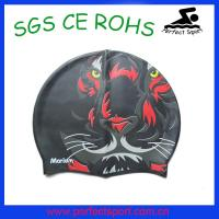 China wholesale silicone swimming cap for men with custom logo on sale