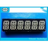 China RBGYW Color 0.39 Inch 6 Digit 7 Segment Display For Message Board , 49X15X8 Mm wholesale