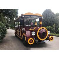 China 220V Electric Sightseeing Car Electric Tour Bus Lower Noises FRP Steel Material wholesale