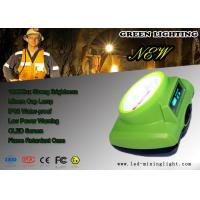 Quality Green 15000 Lux Cordless Mining Lights , Oled Screen LED Mining head Light for sale
