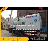 China Flexible Concrete Mixer Pump Truck S Pipe Valve 5.5kw Hoist Motor wholesale