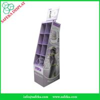 Quality Point of sale merchandising display rack 8 pockets Custom cardboard display for sale