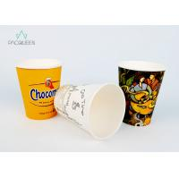 China Leak Proof Single Wall Paper Cups PE / PLA Lining For Hot Drinking wholesale