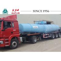 China 40 Tons Sulfuric Acid Tanker Truck , Chemical Road Tankers With Airbag Suspension on sale