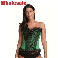Buy cheap Green Sexy 3XL Bustier And Corset Lace Up Corset Waist Trainer from wholesalers