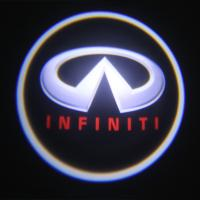 China Infiniti emblem door logo light 12v 3w LED Door Projector Lights with car badge wholesale