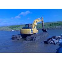 China Bucket capacity 0.4 M3 Amphibious Excavator Operating Weight 15000kg / Dredging Excavator wholesale